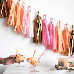 Tissue Tassel Garland Kit - Pink, Peach, Rose Gold