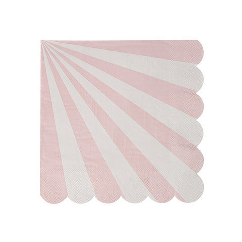 Dusty Rose Striped Napkins - Small