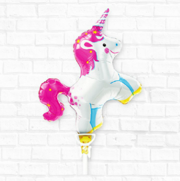 Unicorn Party Balloon, Small 14""