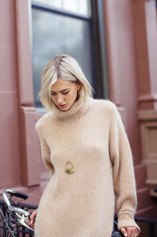 Yulia Cozy Sweater Dress by Demy Lee NYC