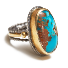 Natural Turquoise Sterling Silver Ring
