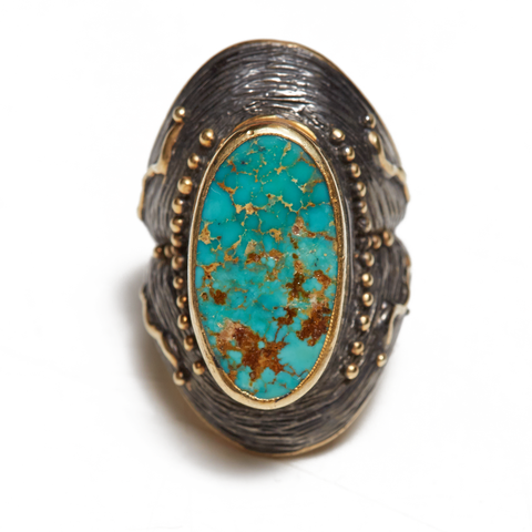 Large Turquoise Sterling Silver Ring