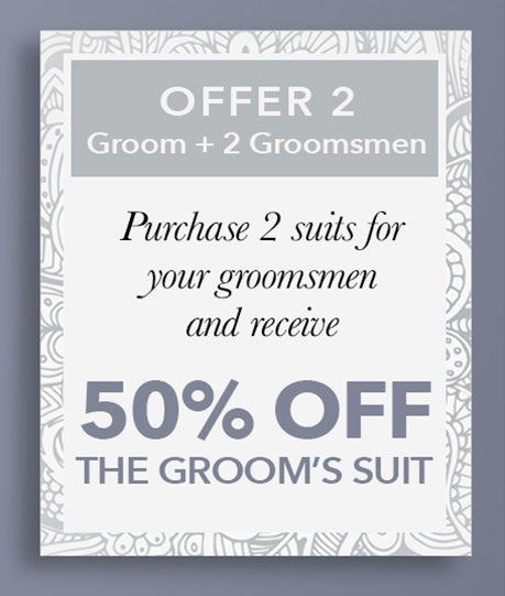 50% Off the Groom's Suit