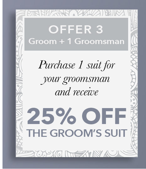 25 Off the Groom's Suit