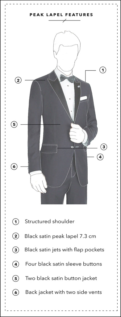Peak Lapel with Copy