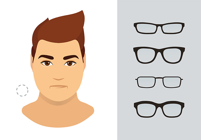 c0437c786b0 Round face is the one with undefined jaw structure with equal lines at both  sides. Men with this type of face shape should not select shades which are  ...