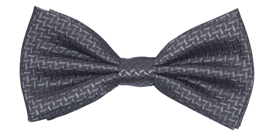 Bennett Stay Handsome Bow Tie in Charcoal - Ron Bennett Menswear
