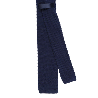 CEO Made In Italy Knitted Tie in Navy / Gold