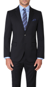 Hugo Boss James / Sharp Suit in Dark Blue - Ron Bennett Menswear  - 3