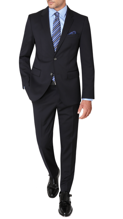 Hugo Boss James / Sharp Suit in Dark Blue - Ron Bennett Menswear  - 1