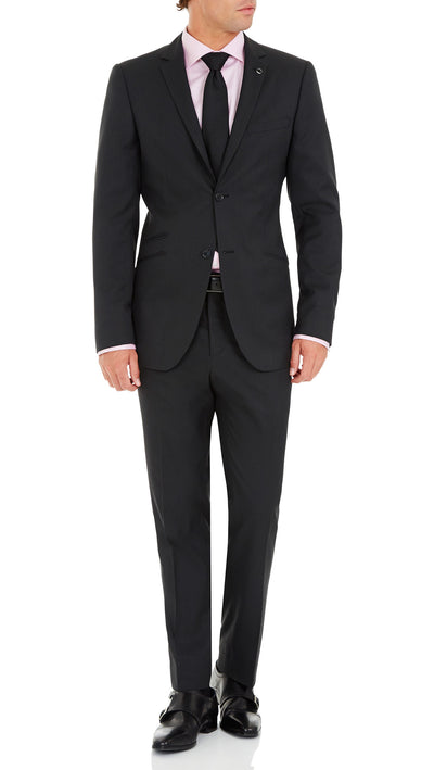 Blackjacket Wool Suit in Dark Grey - Ron Bennett Menswear  - 1