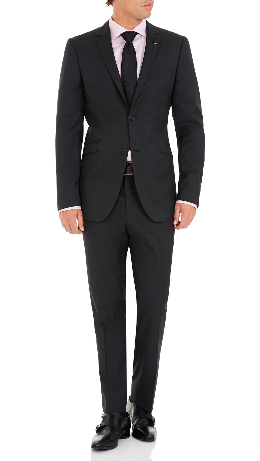 Blackjacket Wool Suit in Dark Grey