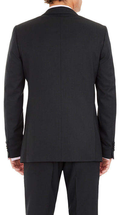 Blackjacket Wool Suit in Dark Grey - Ron Bennett Menswear  - 4