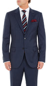Nicholby & Harvard Luxury Wool Suit in Navy Stripe - Ron Bennett Menswear  - 3