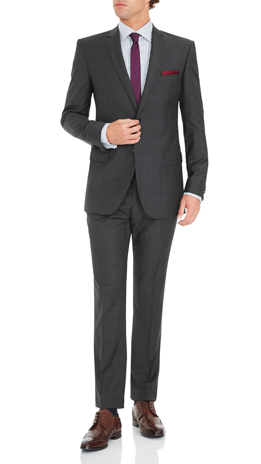 Nicholby & Harvard Suit in Charcoal - Ron Bennett Menswear  - 2