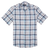 CEO Short Sleeve Linen Shirt in Blue Check