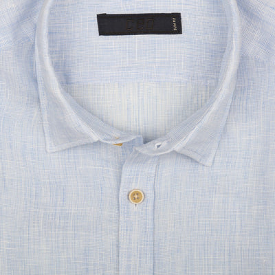 CEO Linen Shirt in Sky Blue - Ron Bennett Menswear  - 2