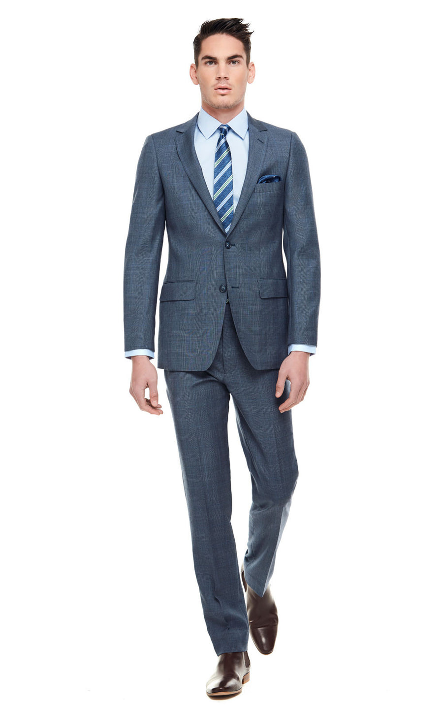 Alex Blue Slim Fit Wool Suit