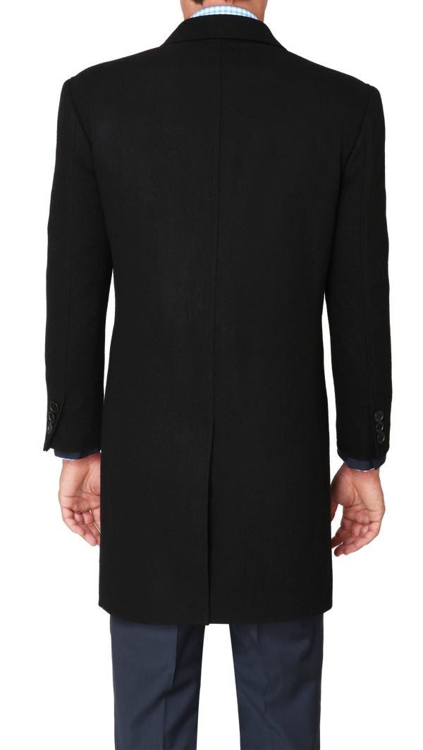 Bennett Heritage Overcoat in Black - Ron Bennett Menswear  - 5