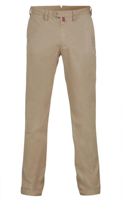Sons Of Ron Washed Trousers in Beige - Ron Bennett Menswear  - 1
