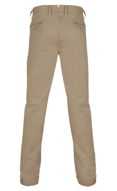 Sons Of Ron Washed Trousers in Beige - Ron Bennett Menswear  - 2