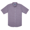 Bennett Short Sleeve Shirt in Red Check - Ron Bennett Menswear  - 1