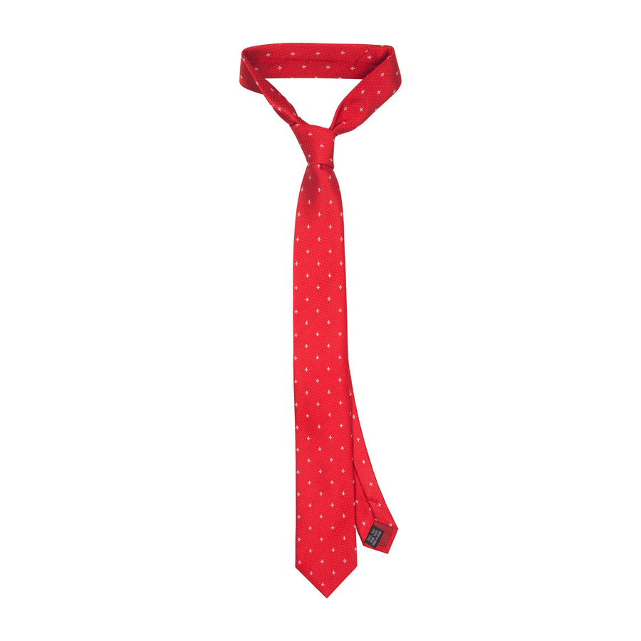 Bennett Signature Silk Tie in Red - Ron Bennett Menswear