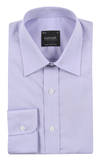 Bennett Signature Business Shirt in Lilac - Ron Bennett Menswear