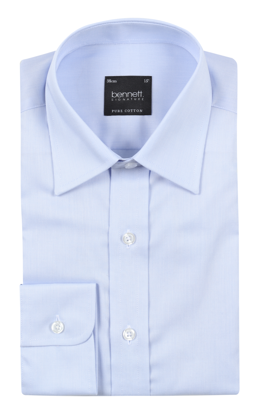 Bennett Signature Business Shirt in Blue - Ron Bennett Menswear