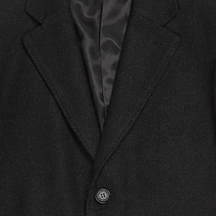Bennett Heritage Overcoat in Charcoal - Ron Bennett Menswear  - 1