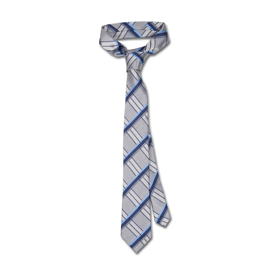 Giorgio Cavalli Silk Tie in Grey - Ron Bennett Menswear