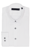 CEO Super Slim Fit Shirt in White / Black Button