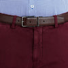 Bennett Italian made Cotton Chino in Bordo - Ron Bennett Menswear  - 3
