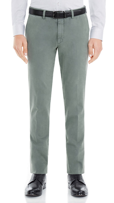 Bennett Italian made Cotton Chino in Petrol - Ron Bennett Menswear  - 1