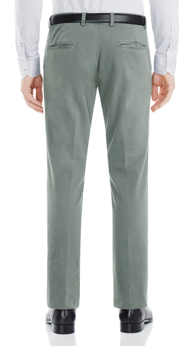 Bennett Italian made Cotton Chino in Petrol - Ron Bennett Menswear  - 2