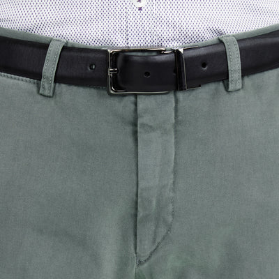Bennett Italian made Cotton Chino in Petrol - Ron Bennett Menswear  - 3