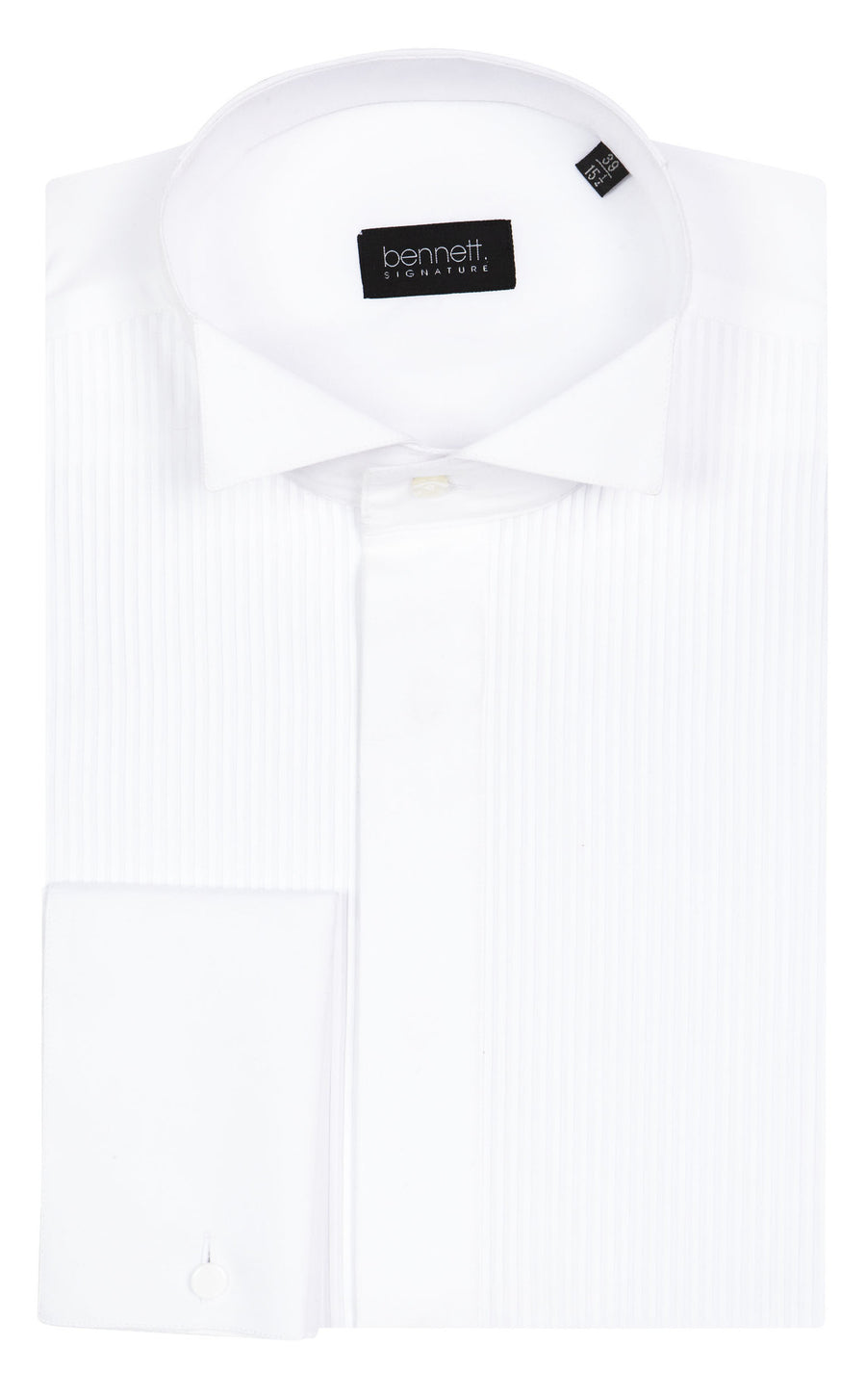 Bennett Signature Dinner Shirt  Winged Collar in White