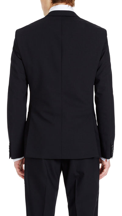 Trench Slim Fit Suit in Black - Ron Bennett Menswear  - 4