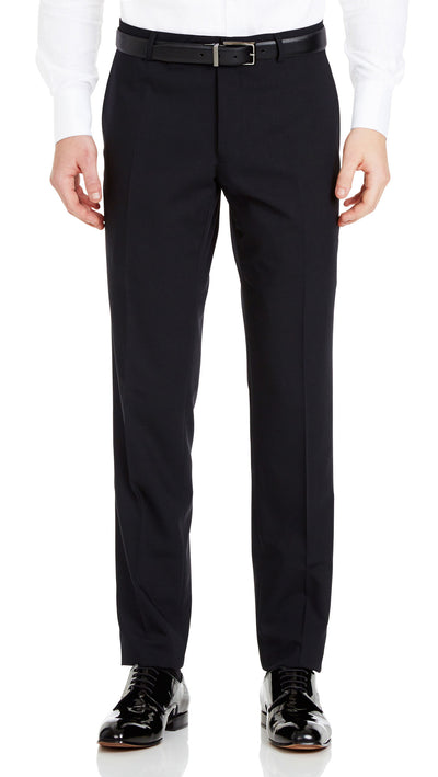 Trench Slim Fit Suit in Black - Ron Bennett Menswear  - 5