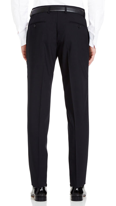 Trench Slim Fit Suit in Black - Ron Bennett Menswear  - 6