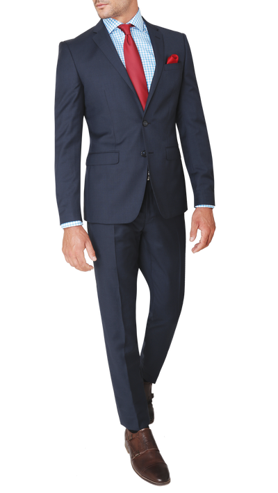 GOFORMAL Performance Suit in Dark Blue - Ron Bennett Menswear  - 1