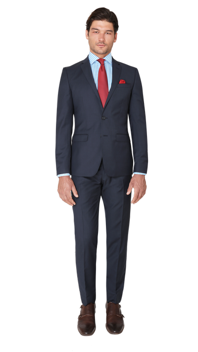 GOFORMAL Performance Suit in Dark Blue - Ron Bennett Menswear  - 3
