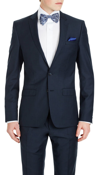Blue Slim Fit Performance Suit for School Formals - Ron Bennett Menswear  - 3