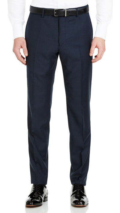 Blue Slim Fit Performance Suit for School Formals - Ron Bennett Menswear  - 5