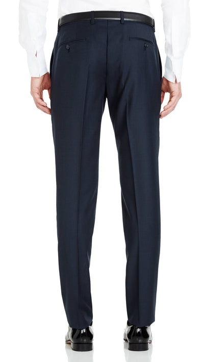 Blue Slim Fit Performance Suit for School Formals - Ron Bennett Menswear  - 6