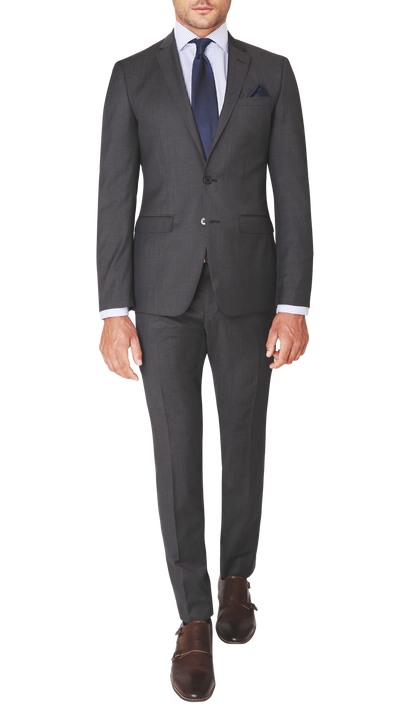 GOFORMAL Performance Suit in Nero - Ron Bennett Menswear  - 1