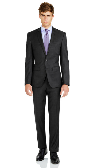 Grey Slim Fit Performance Suit for School Formals - Ron Bennett Menswear  - 2