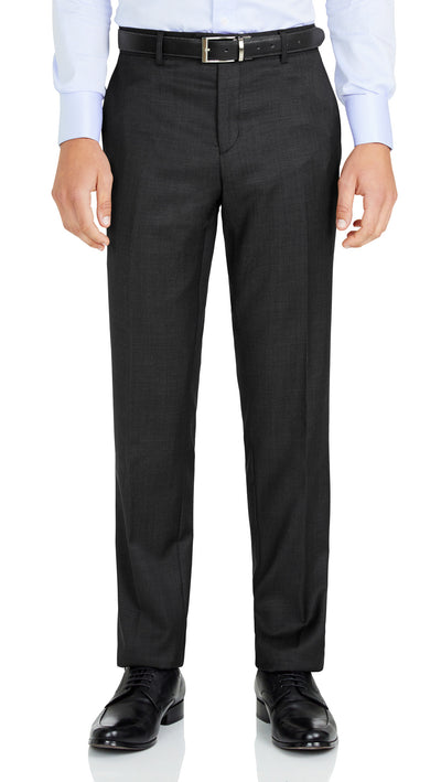 Grey Slim Fit Performance Suit for School Formals - Ron Bennett Menswear  - 7