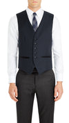 Trench Five Button Vest in Dark Blue   |   Testing - Ron Bennett Menswear  - 1