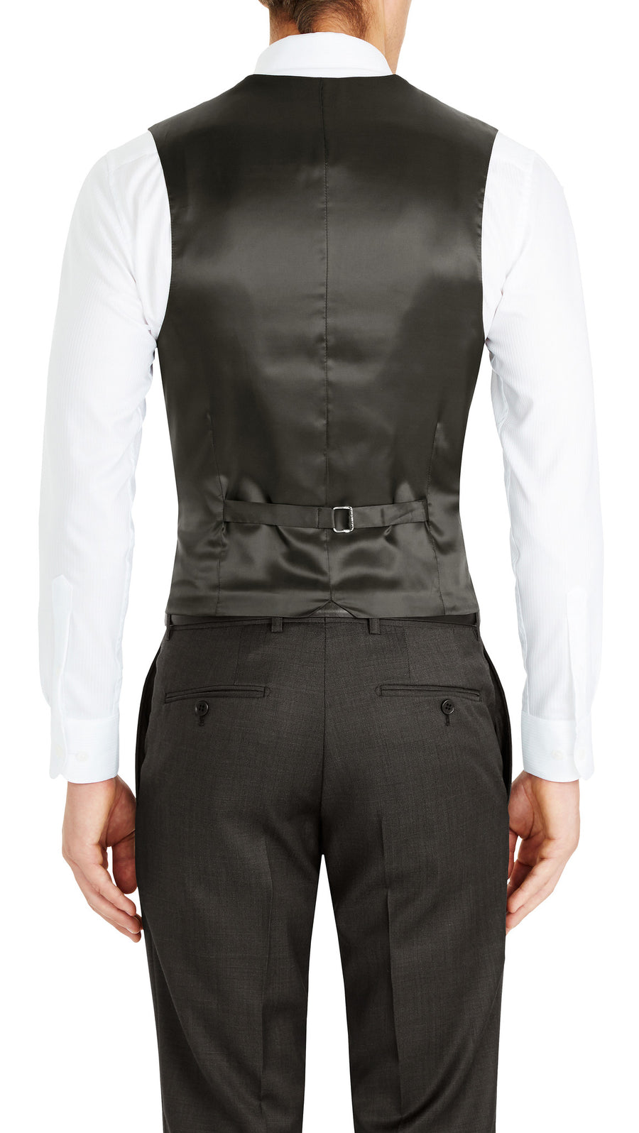 Trench Five Button Vest in Nero - Ron Bennett Menswear  - 1